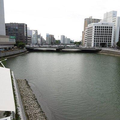穂状公園から那珂川と西中島橋