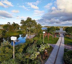 Cadillac Sound Garden area includes sound garden, boardwalk, sun dial and kinderbells.