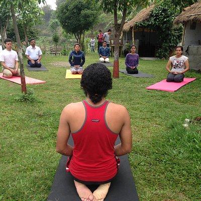 Yoga class -  Shree yoga retreat in Nepal for wellness & inner awesome.