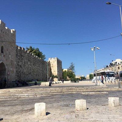 Bab Elzahreh - Herod's Gate in Jerusalem