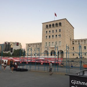 You can see it from Skandebeg square