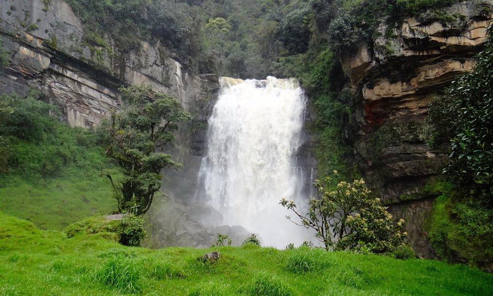Cascada de Nemosten en Sueva (Cundinamarca)