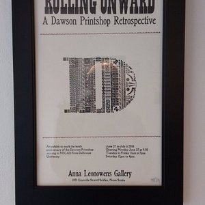 Poster advertising Dawson Printshop Retrospective