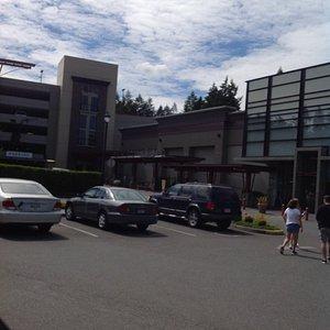 Parking lot at entrance