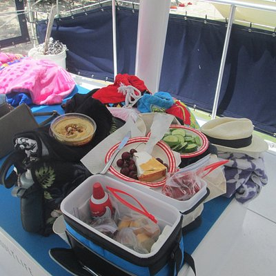 Snacks and drinks are provided on board, we brought our own picnic :)