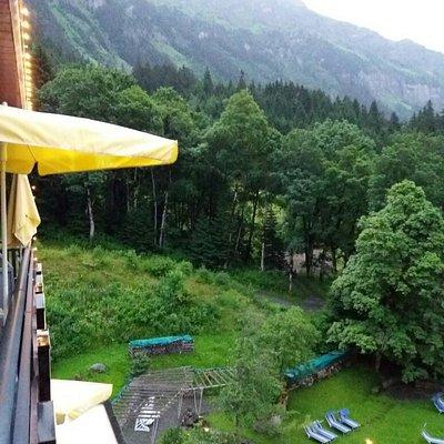 Wengen from park hotel