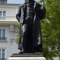 Francisco de Goya Statue at Prado in Madrid