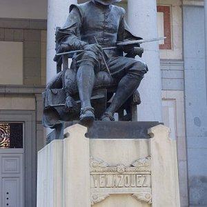 Diego Velazquez Statue in Madrid