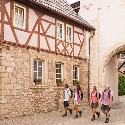 Uhrturm und Altstadt von Neu-Bamber - Hiwweltour Heideblick, Hiwweltour Eichelberg
