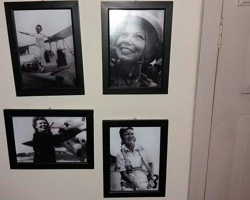 Vistas do museu e fotos da bela Rosita Schörling, primeira paraquedista do Brasil.