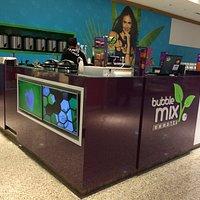 Quiosque da Bubble Mix no Shopping Catuaí Palladium em Foz do Iguaçu (PR)