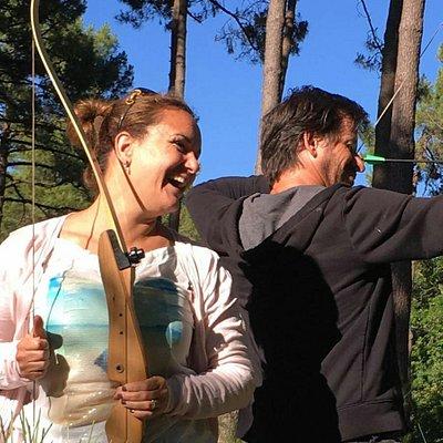 super moment à la forêt de robin! au milieu d'une belle forêt de pins, un parcours nature sous f