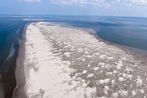 Luchtfoto van het oosterstrand