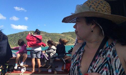 Camino a Forno por mar ... simplemente maravilloso ...
