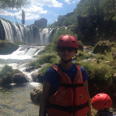 """Keine Angst - dieser Wasserfall wird """"umgangen"""""""