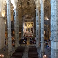 Church of Santa Maria - view into the church interior