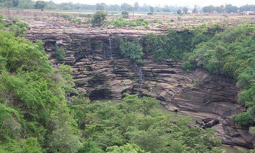 Dried up Tanda Falls