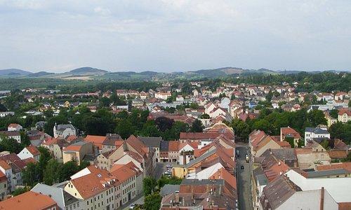 Aussicht vom Turm Richtung Zittauer Gebirge