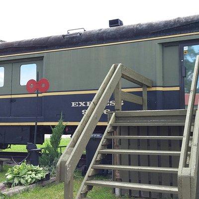 Outside Chatham Railroad museum