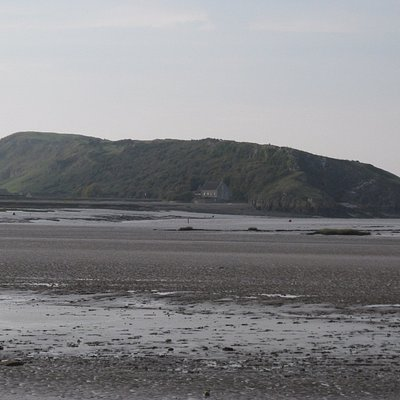 Brean Down seen from Uphill Beach