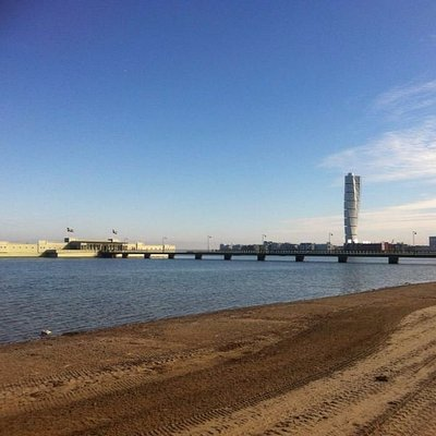 turning torso view-able from this beach