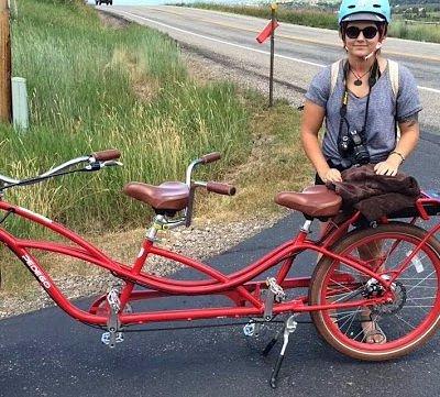 My gf and the bike!