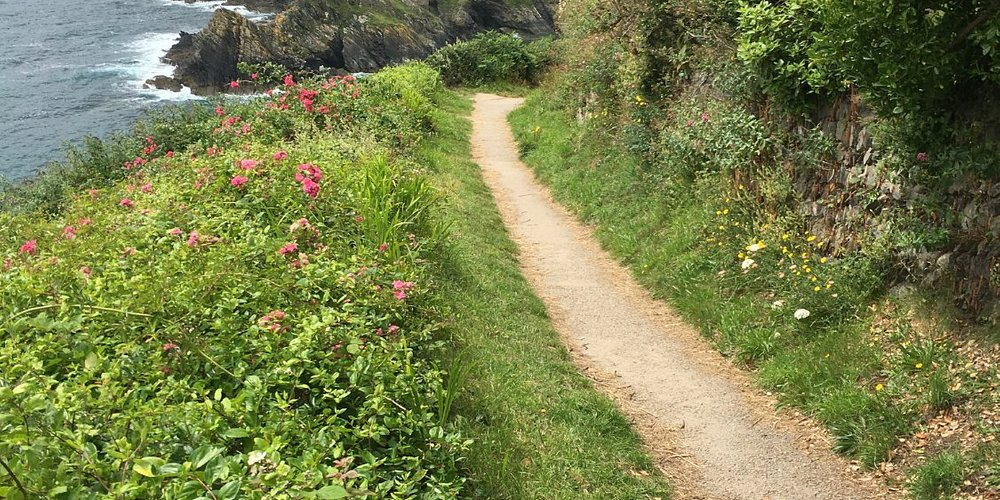 Walking alone the coastal path to Portscatho