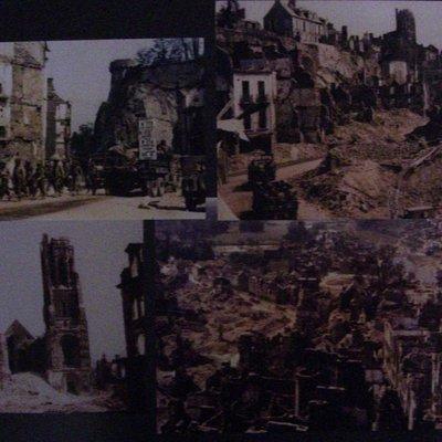 Diferentes vistas de como quedo Notre Dame de St Lo en la 2WW