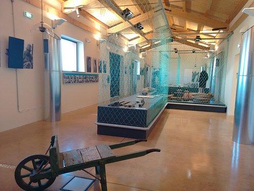 Museo della Tonnara di Stintino allestimento con le reti