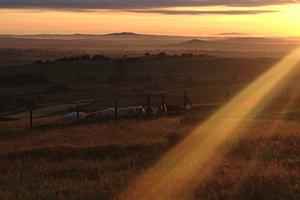 loughcrew tombs at sunrise
