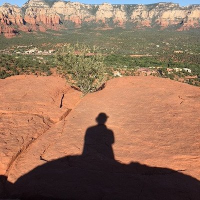 Me and my shadow enjoying the view.