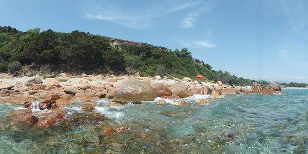 spiaggia sa perda pera, crystalclear water
