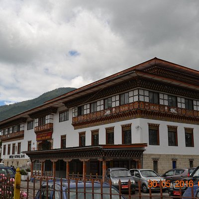 Postal Museum and Central Post Office building next to the Bhutan National Bank
