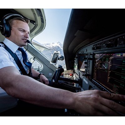 Our wonderful pilot Florian.
