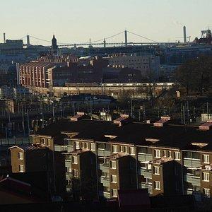 Vy över Göteborg sett Redbergsparken