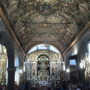 The magnificent ceiling and altar
