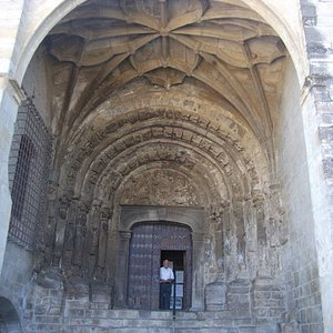The magnificent entrance and door