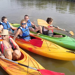 Group of students on the Vistula River