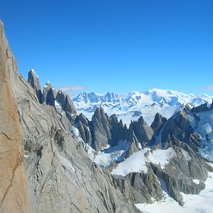 Views from Aguja Guillaumet climbing