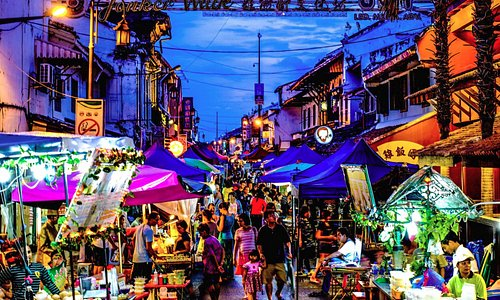 The Jonker Street night market is open Friday, Saturday and Sunday nights.