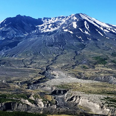 Mount St. Helens asleep. Shhh! Don't wake her up.