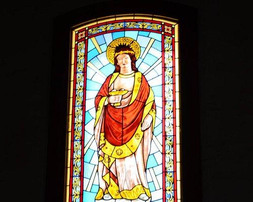 Witraż w Kościele Św. Jakuba w San Bartolome de Tirajana