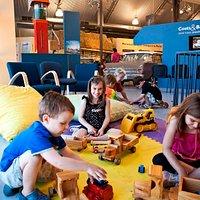 Kids play at Revolutions Transport Museum