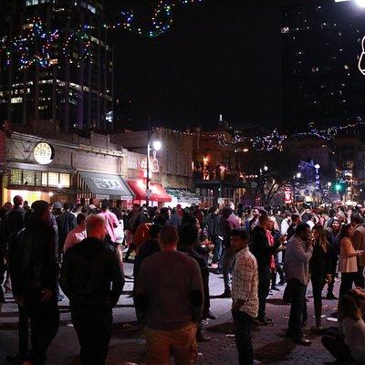New Year's Eve 2015 on Sixth Street, Austin TX