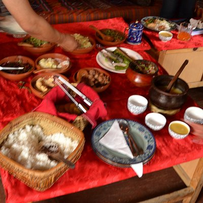There was so much food on the table that I hardly knew where to start.