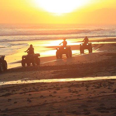 Sunset quad bike tours on the beach
