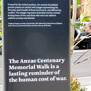 """Explaining what the """"Anzac Centenary Memorial Walk"""" is about"""