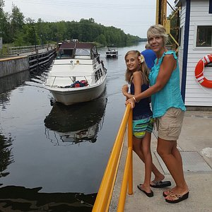 Had a neat time watching the boats in the lock. Met some great people here too. A fun learning e