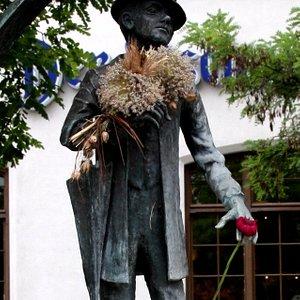 Karl Valentin Brunnen auf dem Viktualienmarkt
