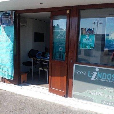 Book a mini ipad in Lindos main square info kiosk